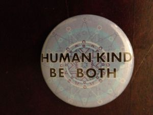 Human kind button