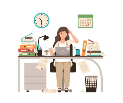 bigstock-Busy-Female-Office-Worker-Or-C-253472164