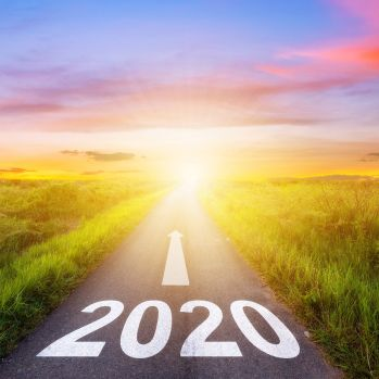 bigstock-Empty-Asphalt-Road-And-New-Year 2020